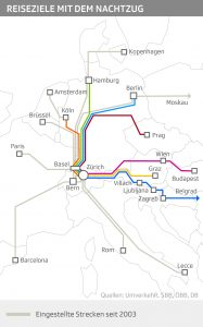 Cancelled night train routes